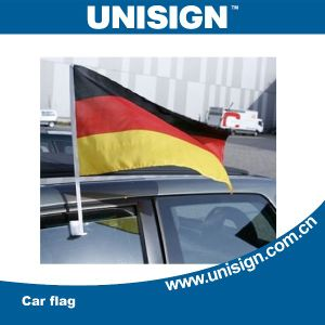 Unisign Hot Selling Car Flag with Customized Size and Design (UCF-1) pictures & photos