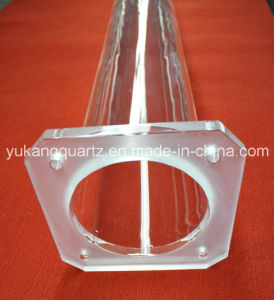 High Quality Clear Quartz Tube with Flange and Hole pictures & photos