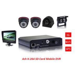 Vcomsky Security 3G Mobile Internet SD Mobile DVR with GPS Tracking in Google Earth pictures & photos
