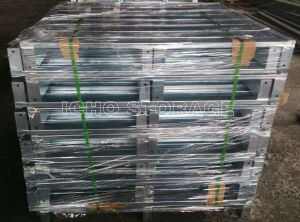 Customized Warehouse Storage Galvanized Single Side Steel Metal Pallet pictures & photos