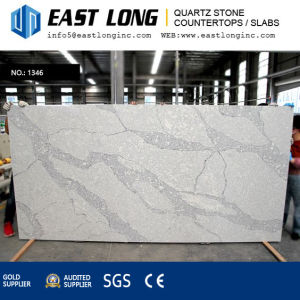 Calacatta Artificial Quartz Stone Slabs for Countertops Whth Polished Surface pictures & photos