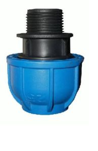 Irrigation Water Supply HDPE Male Adaptor Thread Compression Coupling pictures & photos