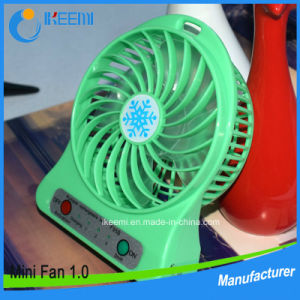 Hot Selling Mini USB Fan Table Rechargeable Fan with Lithium Battery Portable Fan pictures & photos