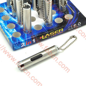 Mini Torch LED Flashlight with Laser Pointer (2130)