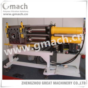 Plastic Recycling Granulating Extrusion Line Used Self-Cleaning Backflush Screen Changer pictures & photos