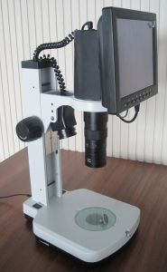 "LCD-450-W 6X-76X Industrial Video Microscope with 8"" LCD pictures & photos"
