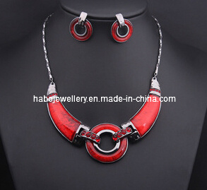 Big Red Ring Necklace Set/Fashion Jewelry Set (XJW13208) pictures & photos