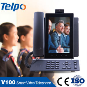 Best Price Android VoIP Video Hotel Telephone for Reception pictures & photos