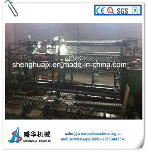 PLC Control Double Wire Chain Link Fence Machine pictures & photos
