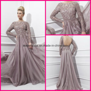 Long Sleeve Prom Party Dress Backless A-Line Fashion Women Dresses Z1027 pictures & photos