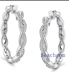 New Trendy 925 Sterling Silver Earrings Findings CZ pictures & photos