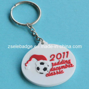 Rubber Soft PVC Football Keychain Promotion pictures & photos