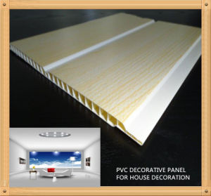 250*8mm Printing Light Wooden Color PVC Decorative Panel (RN-120) pictures & photos