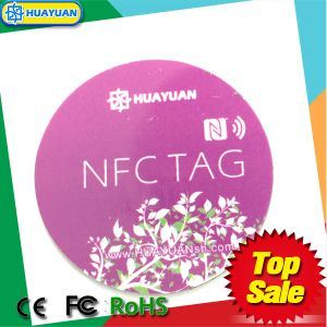 13.56MHz Logo Printing NTAG213 thin NFC Label for Promotion pictures & photos