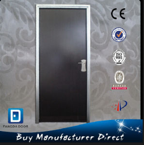 PVC Film Coated Durable Israel Residential Security Safety Steel Exterior Entrance Entry Door pictures & photos