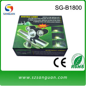 SG-1800 Rechargeable LED Bike Light with Aluminum Body