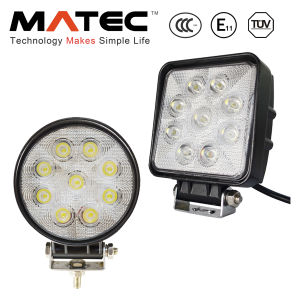 Shock-Proof Waterproof IP68 27W LED Working Light High Lumen 1800lm LED Flood Work Light pictures & photos