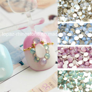 Non Hot Fix Glass Strass Stone for Nail Craft (FB-SS6 white oppal) pictures & photos