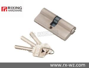 Double Open Brass Security Door Lock Cylinder Rx-18 pictures & photos