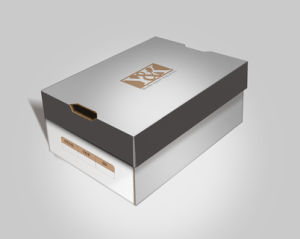 Papar Fashion Shoes Box with Hot Stamping Logo / UV Logo pictures & photos