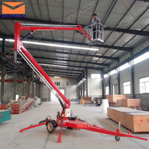 14m Aerial Articulated Boom Lift Platform for Cleaning pictures & photos