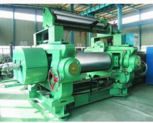 Xk-400 Rubber Sheeting Mill with Stock Blender / Rubber Mixing Machinery