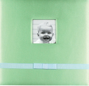 "12""X12"" Silk Fabric Scrapbook Album for Baby pictures & photos"
