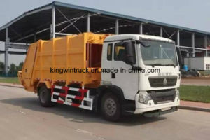 HOWO Brand Suction Garbage Truck pictures & photos