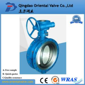 Cast Iron Flange EPDM Lined Butterfly Valve Factory Price pictures & photos