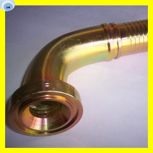 6000 Psi 45 Degree SAE Flange Hose Fitting 87641-24-20 pictures & photos