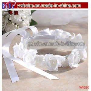Wedding Dress Jewelry Girl′s White Rose Headwear (W1020) pictures & photos
