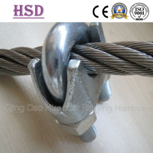 E. Galvanized DIN741 Wire Rope Clips, Us Mellable Wire Rope Clips, JIS Forged Type Wire Rope Clips pictures & photos