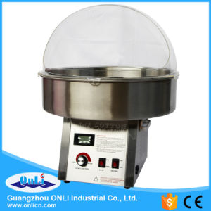 Professional Digital Stainless Steel Cotton Candy Floss Machine with Cover pictures & photos