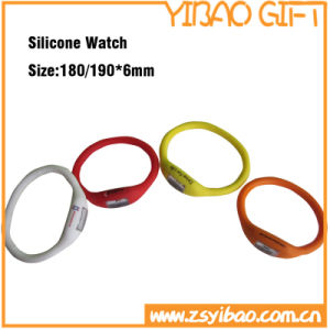 Cheap Silicone Watch with Printing Logo (YB-SW-37) pictures & photos