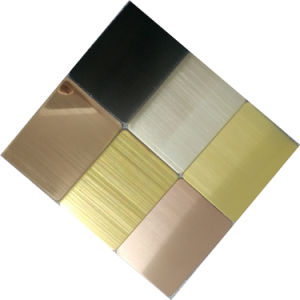Shopping Black Mirror Color Stainless Steel Clad Plate Sheet with Building Material pictures & photos