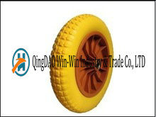 353 mm Solid PU Wheels Complete with Rim From China Supplier pictures & photos