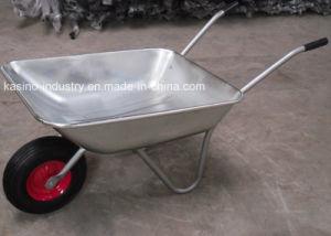 Salable Cheep Galvanized Garden Trolley Wheel Barrow (wb5204) pictures & photos