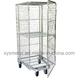Four Sided Security Rolling Mobile Cage, Folding Roll Container pictures & photos