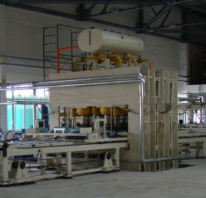Particle Board/ MDF Short Cycle Melamine Hot Press (double side) Machine pictures & photos