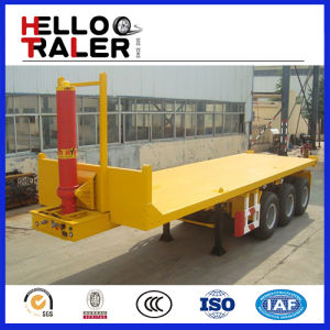20FT - 48FT Hydraulic Flatbed Container Tipper Trailer pictures & photos