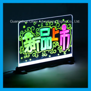 Advertising Flashing Light up Menu Board Restaurant LED Writing Board pictures & photos