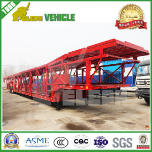 Three Axles Electric Pump System Car Carrier Semi Trailer pictures & photos
