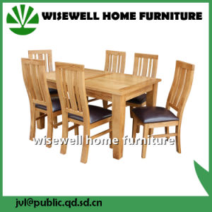 Oak Wood Dining Room Furniture Set with 4 Chair (W-DF-9051) pictures & photos
