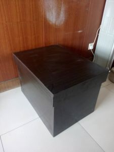 Direct Wood Material Shoe Cabinet pictures & photos