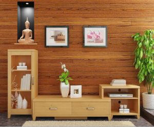 New Design Modern Bamboo TV Stand for Living Room pictures & photos