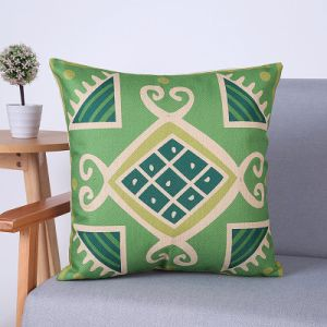 Digital Print Decorative Cushion/Pillow with Geometric Pattern (MX-59H) pictures & photos