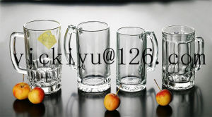 300ml Green Smile Glass Drink Jar pictures & photos