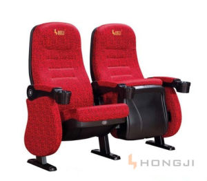 Fixed Auditorium Theater Armchair with Cup Holder (Hj95D) pictures & photos