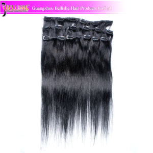 Remy Virgin Brazilian 100% Human Curly Hair Clip in Hair Extension