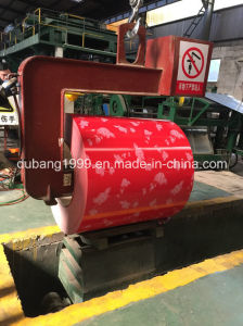 Pre-Painted Galvanized Steel Coil with Red Flower Red Base Export to Korea pictures & photos